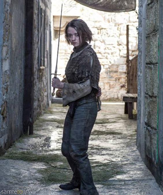 آریا استارک,فصل پنج game of thrones,بازی تاج و تخت,عکس بازیگران game of thrones