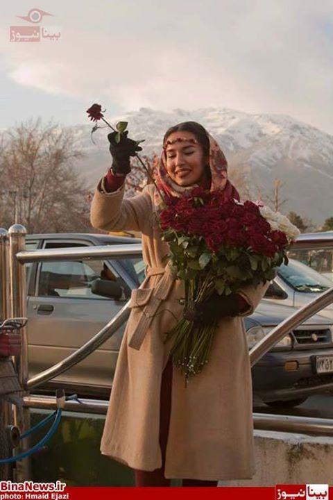 دختر گل فروش,دختر خوشگل گل فروش,دختر تهرانی,دختر ایرانی